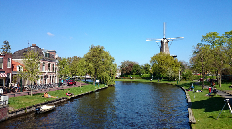The city of Leiden Netherlands